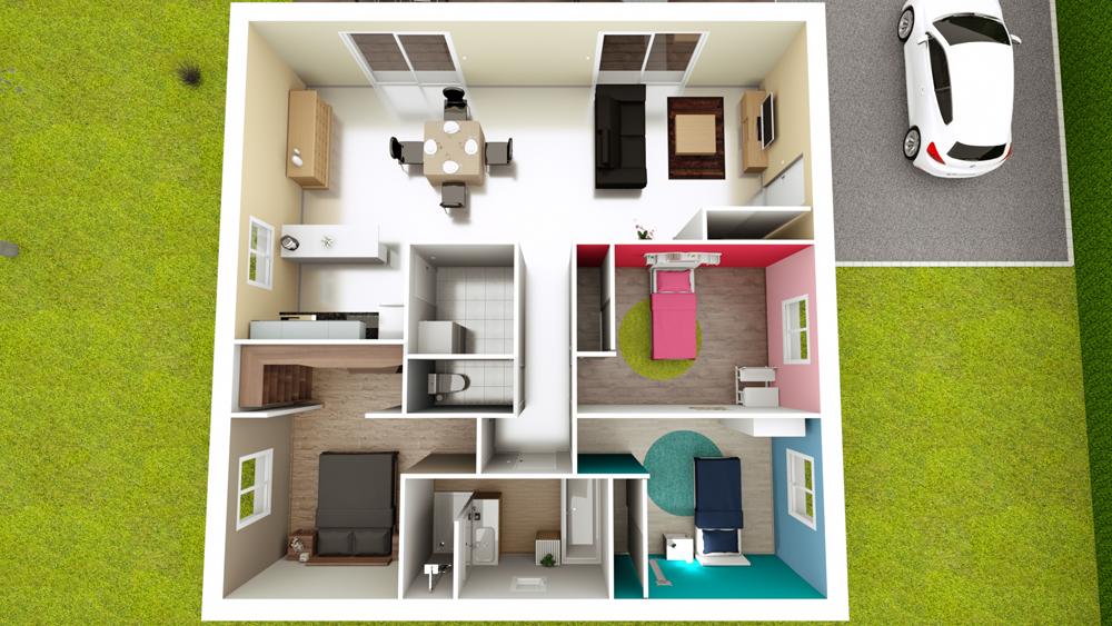 Plan Maison Carre Finest Maison Carre Fredokzo Plan De Pices Et M With Plan Maison Carre