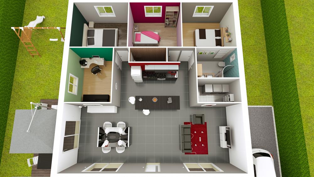 plan maison carre maison carre pinterest with plan maison. Black Bedroom Furniture Sets. Home Design Ideas