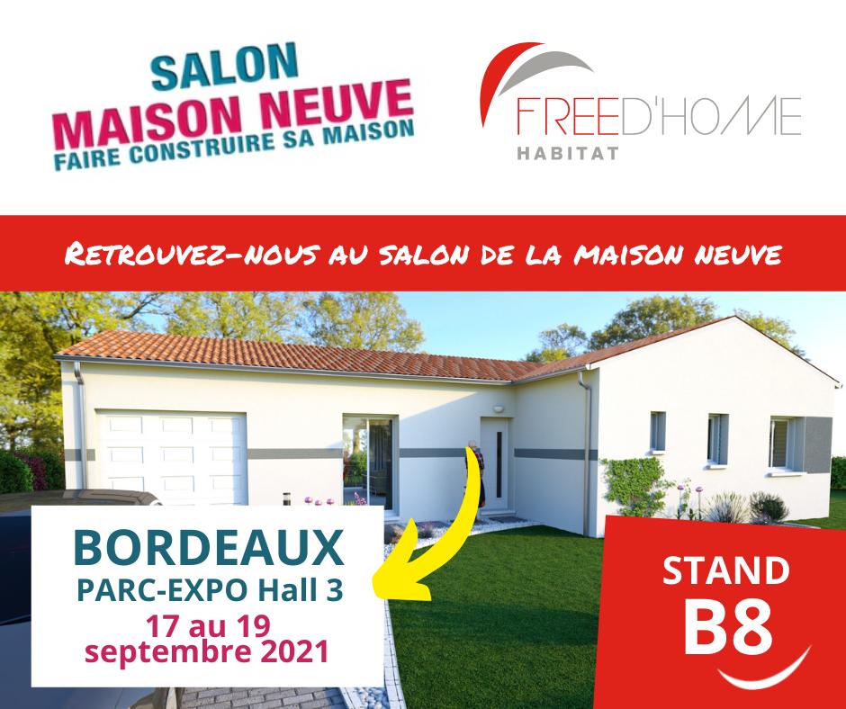 Retrouvez-nous au salon de la maison neuve 2021 à Bordeaux